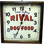 SALE Rival Dog Food Advertising Wall Clock