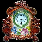 SALE Royal Bonn Porcelain Clock by Ansonia