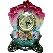 Ansonia Royal Bonn Porcelain Clock