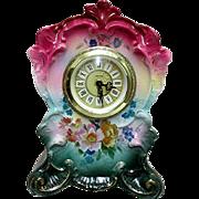 SALE Ansonia Royal Bonn Porcelain Clock
