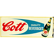 SALE Cott Quality Beverages Ginger Ale Advertising Sign