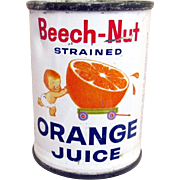 SALE Beech-Nut Orange Juice Advertising Tin