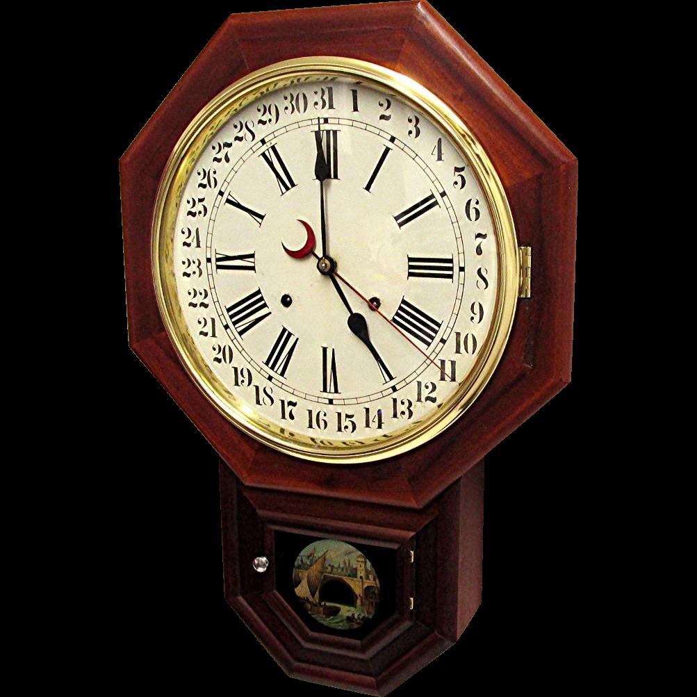 Waterbury Calendar Wall Clock from drury on Ruby Lane
