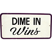 SALE DIME IN Wins Arcade Fair Sign