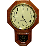 Antique Oak Seth Thomas Wall Clock 100% Original and Fully Restored 80 Other Clocks To Choose From
