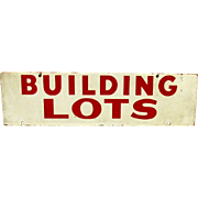 SALE Building Lots Double Sided Advertising Sign