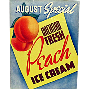 SALE 1936 Hood Dairy  Ice Cream Advertising Sign