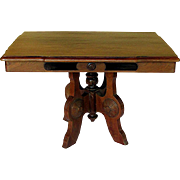 SALE Victorian Walnut Eastlake Table Coffee Table Height
