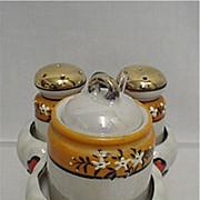 Luster Ware Porcelain Condiment Set
