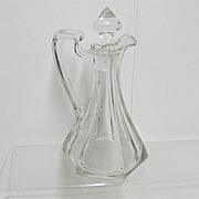 SALE Cruet American Glass