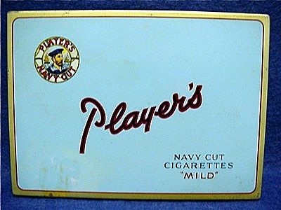 Players Cigarette Pocket Advertising Tin