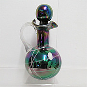 Antique Glass Cruet  Iridescent Art Glass