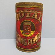 Royal Baking Powder 1 pound size Advertising Tin