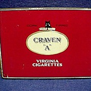 REDUCED Craven A Virginia Cigarette Pocket Advertising Tobacco Tin