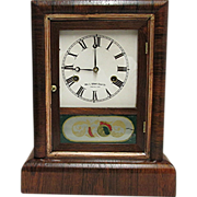 Antique American Rosewood Mantle Clock
