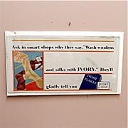 SALE Trolley Sign Ivory Flakes Advertising Sign for Soap 50% OFF
