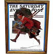 SALE Wet Paint April 12, 1930 Saturday Evening  Post Cover by Norman Rockwell