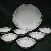 Butter Set Nippon Porcelain Service for Six