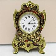 SALE Boulle Clock French Miniature Table, Mantel, Shelf or Desk Clock