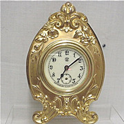 SALE Gold Gilt Waterbury Clock Co. Mantel, Desk, Table or Shelf Clock