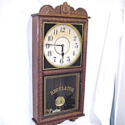 SALE Antique American Wall Clock Waterbury Regulator