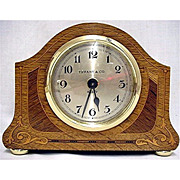 SALE Inlaid Desk Clock  Retailed by Tiffany
