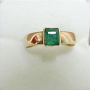SALE Emerald Ring Hallmarked 1867 9 Carat Gold