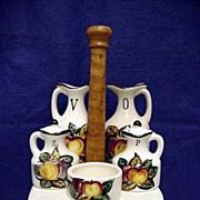 Porcelain Cruet, Condiment  or Castor Set