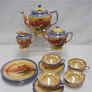 Lusterware Tea Set Service for 4