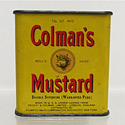 SALE Bargain Spice Tin Colman Mustard with Original Contents