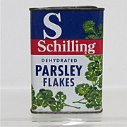 SALE Bargain Spice Tin Schilling Parsley Flakes Tin with Contents
