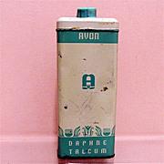 Advertising Avon Talc Tin Daphne Talcum Powder 50% OFF