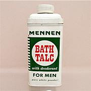 Advertising Talc Tin For Mennen Talc for Men 50% OFF