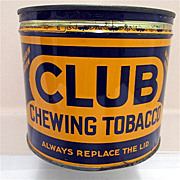 SALE Club Chewing Tobacco Advertising Tin