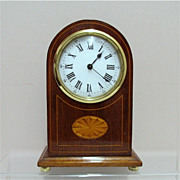 SALE Antique Clock Edwardian with Inlay for Mantel Desk or Table MINT
