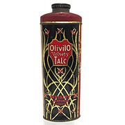 Olivilo Velvety Advertising Talc Tin From Chicago Talcum Powder 50% OFF