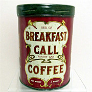 SOLD Breakfast Call Advertising Coffee Tin
