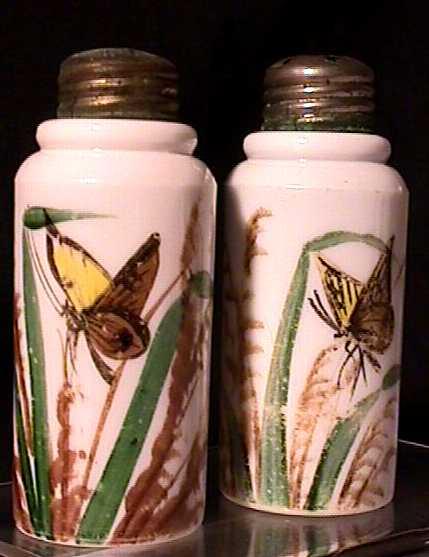 Salt and Pepper Shaker Set American Opaque Glass