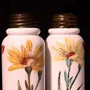 SALE Salt and Pepper Set American Glass Shakers 1898 - 1905