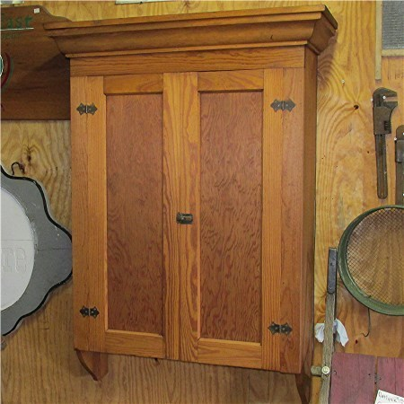 Large Antique Wall Hanging Cupboard
