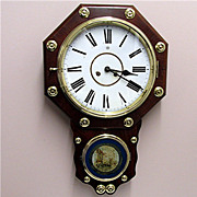 Antique Rosewood Chiming Wall Clock  Fully Restored 100% Original