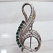 SALE Silver Brooch Art Nouveau