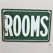 SALE ROOMS Advertising Tin Sign Circa 1920 50% Off