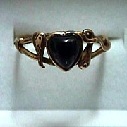 SALE Onyx and Gold 9 Carat Antique Ring