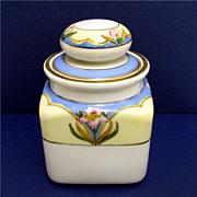 SALE Humidor Noritake Porcelain Art Nouveau Hand Painted