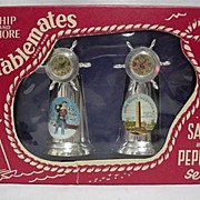 SALE Salt and Pepper Set Compass Top Shakers