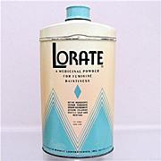 Lorate Talc  Advertising Talcum Tin 50% OFF