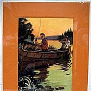 Fishing Print Signed Hintermeister 50% Off