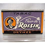 SALE French Tobacco Box  Advertising Fleur de Roisin