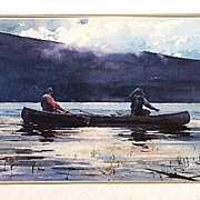 Fly Fishing Framed Lithograph Print 50% Off